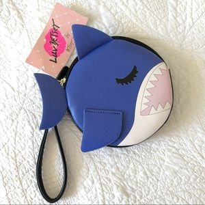 Betsey Johnson Little Blue Shark Coin Purse